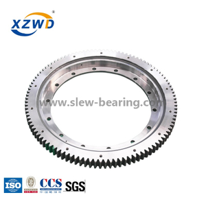 Four-point Contact Ball Bearing Turntable with Deformable Rings for Crane